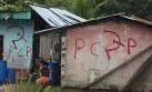 Aparecen pintas subversivas en barrio de Huancayo
