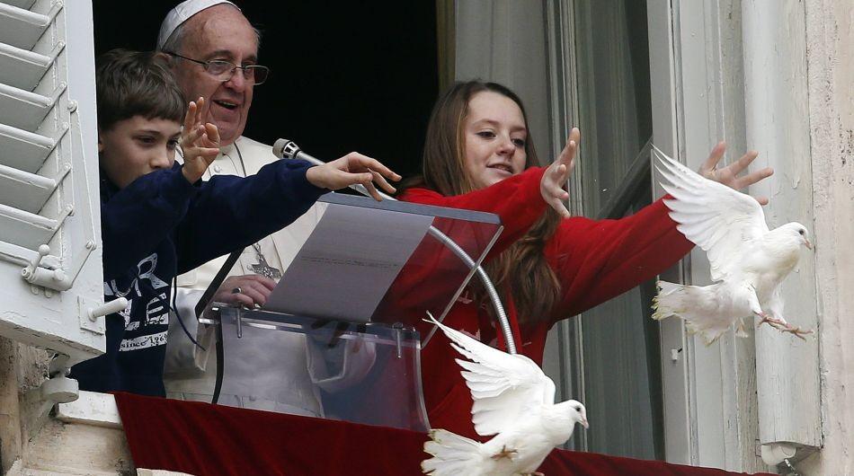 papa - Una gaviota y un cuervo atacan una paloma por la paz de Ucrania del papa Francisco 950x530