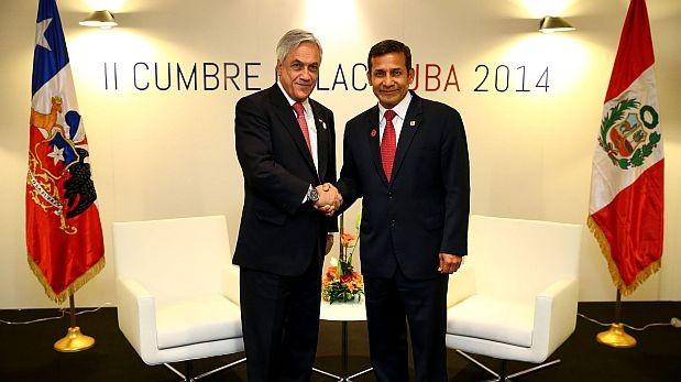 Piñera y Humala conversaron durante 45 minutos sobre el fallo de La Haya. (Foto: Andina)