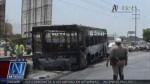 Bus del Metropolitano se quemó por completo en Puente Piedra - Noticias de cesar quispe valenzuela
