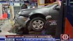 Chocó contra un minimarket en su intento de huir de la policía - Noticias de jonathan leon figaldo