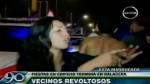 Fiestas en edificio acabaron a balazos en Surco - Noticias de gloria pilar figueroa