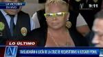 Lucía de la Cruz salió en libertad tras declarar ante PJ - Noticias de rosario rodriguez oliden