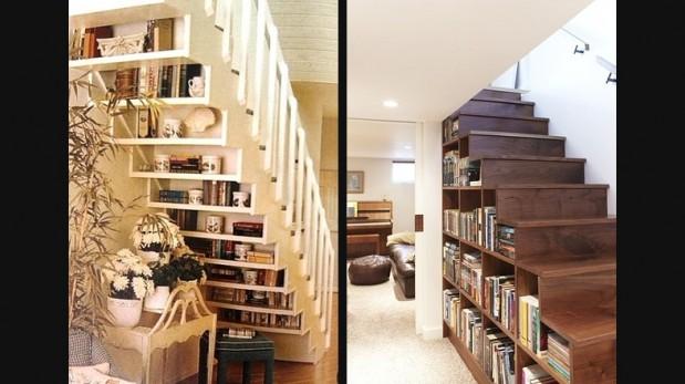 5 ideas para aprovechar el espacio debajo de las escaleras for Biblioteca debajo de la escalera
