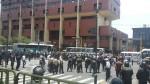 Manifestantes llegaron al Cercado y policía los desalojó - Noticias de jiron andahuaylas