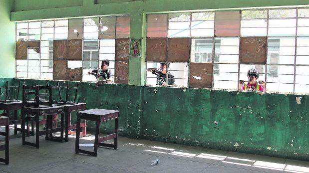 Infraestructura en colegios afecta a los escolares peruanos