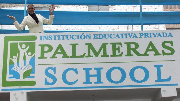 La congresista oficialista Cenaida Uribe es fundadora y promotora de colegio en Los Olivos.