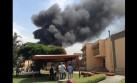 Incendio frente a la Universidad Agraria causó alarma