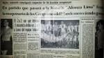 Alianza Lima: el día que empató ante Uruguay campeón del mundo - Noticias de javier clemente