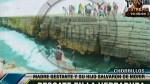 Bañistas saltaron de La Herradura para salvar a madre e hijo - Noticias de salto del fraile