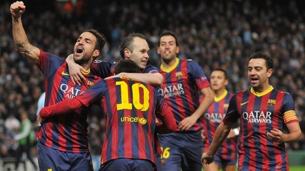 Barcelona derrotó 2-0 de visita al Manchester City