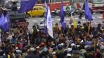 Gremios de transportistas marchan por la avenida Abancay - Noticias de martin valeriano