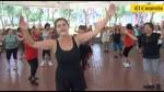 Adultos mayores al día con baile, aeróbicos y zumba fitness - Noticias de luis gilbonio