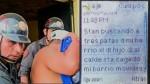 Caso Burgos: Delincuentes se avisan por mensajes que los buscan - Noticias de christian barraza guevara
