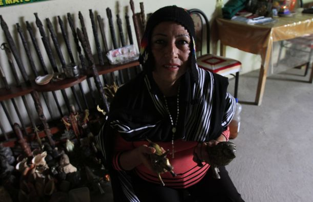 Angélica Montoya, curandera de La Libertad. Foto: Celso Roldán