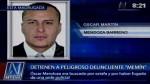 Escurridizo delincuente 'Memín' fue capturado en el Callao - Noticias de oscar mendoza barreno