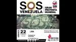 Limeños protestan hoy con S.O.S por violencia en Venezuela - Noticias de cercado de lima