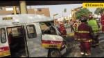 Doce heridos deja choque de un bus y una combi en Surco - Noticias de accidente automovolistico