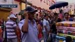 Ambulantes bloquean vías en Mesa Redonda por campaña escolar - Noticias de jiron andahuaylas