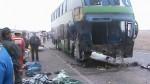 Ica: tres muertos y seis heridos dejó choque de bus con tráiler - Noticias de juan julca ramirez