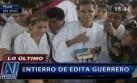 Corazón Serrano: accidentado entierro de Edita Guerrero