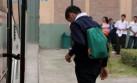 Minedu evalúa postergar clases en 31 colegios de Lima