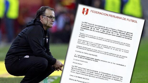 Marcelo Bielsa rechazó dirigir a la selección peruana