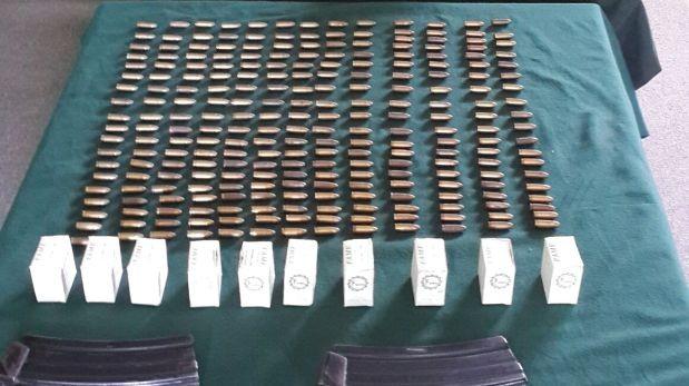 Chiclayo: Detienen a tres personas con municiones militares