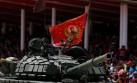 Desfile cívico - militar en honor al fallecido Hugo Chávez