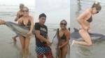 Indignación por jóvenes que se fotografiaron con delfín varado - Noticias de maribel flores