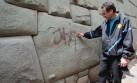 Cusco: cámara captó a persona que pintó la piedra de 12 ángulos