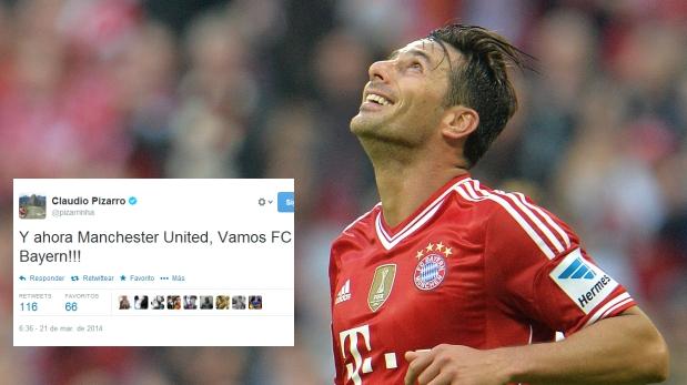 Claudio Pizarro y su reacción tras ver el sorteo de Champions