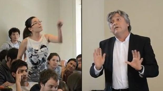 Joven venezolana es aplaudida tras increpar a senador chileno