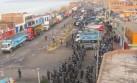 Mineros en Arequipa bloquean nuevamente Panamericana Sur