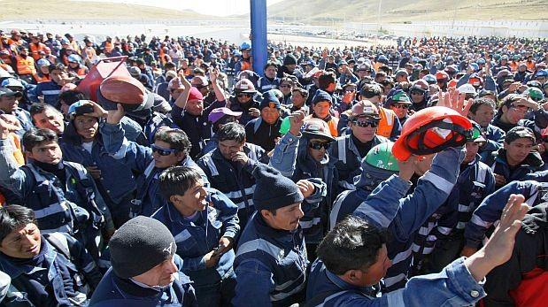 Trabajadores de minera Glencore iniciaron paro de 48 horas