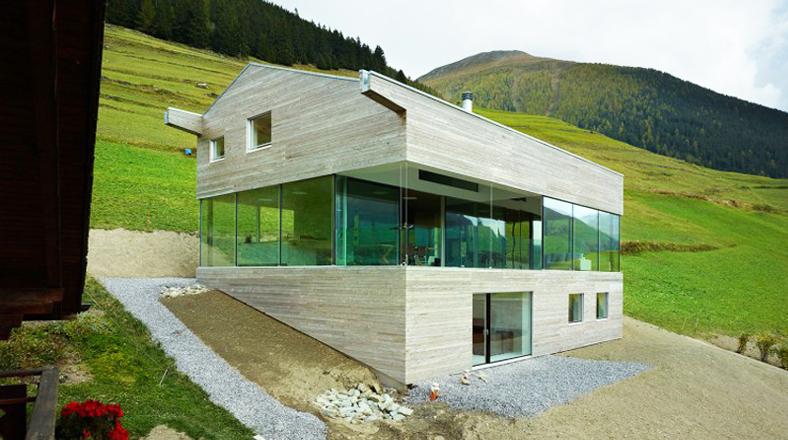 Entre monta as mira esta moderna casa en los alpes suizos foto galeria 1 de 5 el comercio peru - Casas en los alpes suizos ...