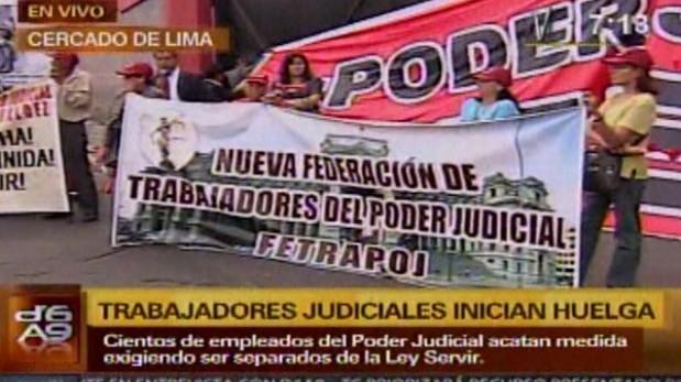 Trabajadores del Poder Judicial acatan una huelga indefinida