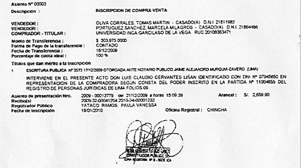 Rector de U. Garcilaso compró de forma irregular un terreno