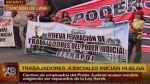 Trabajadores del Poder Judicial acatan una huelga indefinida - Noticias de promulgación ley servicio civil