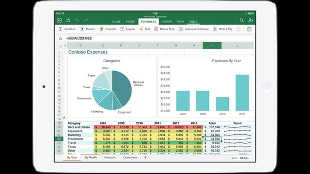 Microsoft presenta una versión de Office para iPad