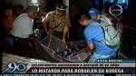 Ate: delincuentes asaltan y matan a anciano de 82 años - Noticias de mauro lapa rivera
