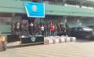 Droga en La Molina: policía presentó a los nueve detenidos