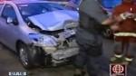Dos heridos por accidente en Av. Javier Prado - Noticias de accidente automovolistico