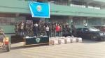 Droga en La Molina: policía presentó a los nueve detenidos - Noticias de jorge cerbellón