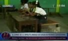 Pucallpa: niños reciben clases sentados sobre baldes