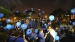 Lima se pintó de azul por una noche - Noticias de sala luna pizarro