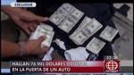 Más de US$76 mil estaban camuflados en puerta de auto - Noticias de difusióhn