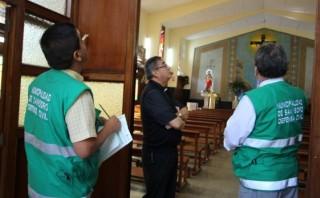 San Isidro inspeccionó seguridad en iglesias por Semana Santa