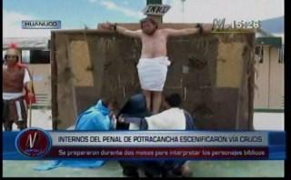Semana Santa: internos escenificaron el vía crucis