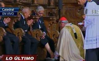 Cardenal Cipriani lavó los pies a doce ancianos de asilo